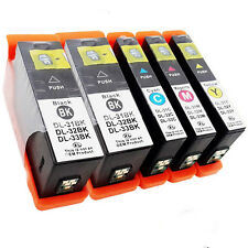 5Pack For Dell 31 32 33 34 Compatible Ink Cartridges With Chip Injet V725w V525w