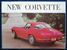 Prospekt brochure 1963 Chevrolet Chevy Corvette Stingray (USA) * rotes Cover