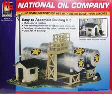 HO Gauge-Life Like-433-1331-Model Railroad Building Kits-National Oil Co. Kit