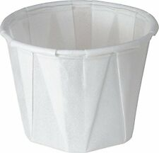 Solo 1.0 oz Treated Paper Souffle Portion Cups for Measuring, Medicine, Samples,