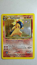 Pokemon Trading Card Game Neo Genesis Expansion Typhlosion Lv. 55 Foil Hologram