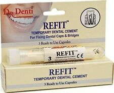 Dr Denti Refit Tooth Cement  CROWNS, BRIDGES, VENEERS INLAYS & ONLAYS
