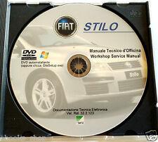DVD MANUALE TECNICO D'OFFICINA FIAT STILO 1.2-1.6-1.8 16V - 2.4 20V -1.9JTD 3/5P