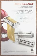 KitchenAid Stand Mixer Attachment Pasta Roller & Cutter 3pc KSMPRA 199.99(CW)
