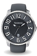 Tendence Gulliver Slim TS151001 Stainless Steel Grey Rubber Band Men's Watch