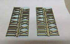 """1"""" Self-Adhesive hot stamped Gold Roman Clock Numbers NEW 2 SETS USA made"""