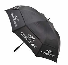 "Cypress Point Wind / Gust Buster 64"" Double Dual Canopy Golf Umbrella Black New"