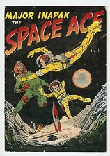 MAJOR INAPAK THE SPACE ACE, #1, 1951, GIVEAWAY, INAPAK FOODS, BOB POWELL COVER