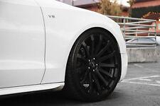 """19"""" MRR HR9 Wheels For Mercedes S430 S500 S550 S600 Concave Black Rims Set (4)"""