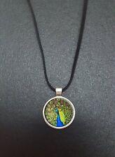 """Paon pendentif sur un 18"""" noir cord collier idéal anniversaire cadeau N111"""