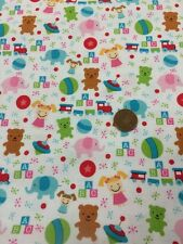 """100% algodón Acolchado tela artesanal por 1/2 MTR Santas taller Juguetes Riley Blake 45"""""""