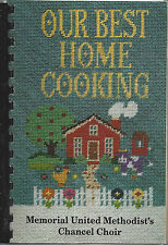 *CHARLOTTE NC 1992 MEMORIAL METHODIST CHURCH COOK BOOK *OUR BEST HOME COOKING