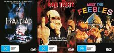 BRAINDEAD + BAD TASTE + MEET THE FEEBLES - PETER JACKSON COLLECTION - NEW DVDS