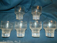 """Set/6 Rosenthal Crystal 4"""" """"Old Fashion"""" Polaris #520 Pattern Signed Exc Cond"""