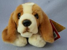 KEEL SOFT TOYS 30cm BENNY THE BASSET HOUND - HAND-MADE PLUSH TOY - NEW GIFT