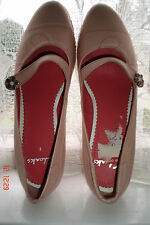 SIZE 6  - PALE PINK CLARKS  LOW HEEL SHOES
