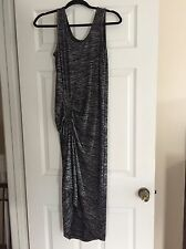 The Limited Gray Gathered Asymmetrical Maxi Dress Size Small