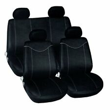 Universal Sports Car Black & Grey Seat Covers Washable Airbag Safe 10 Piece Set