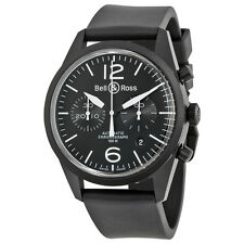 Bell and Ross Vintage Original Automatic Chronograph Black Dial Black Rubber