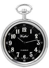 Woodford Chrome Plated Mechanical Open Face Pocket Watch. ref 1040