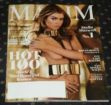 Maxim Magazine June July 2016 HOT 100 Sexy STELLA MAXWELL World's Most BEAUTIFUL