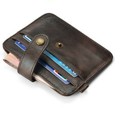 Leather Holder Case ID Business Money Clip Credit Card Wallet Key Business Mens