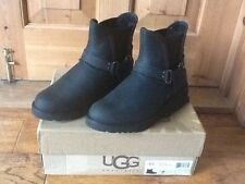 GENUINE UGG GLEN SHORT BLACK WATER RESISTANT BOOTS UK5.5/EU38 BNIB