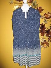 Pure Energy Blue Short Summer Dress  3 2X / 3X Beach Coverup Loungewear