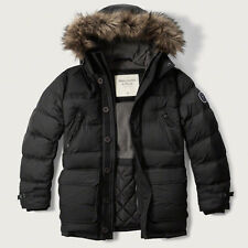 NWT  Abercrombie & Fitch Hooded Puffer Parka Down Jacket men's size M SAVE!!