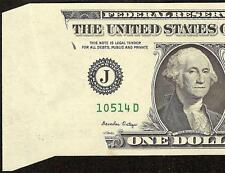 UNC 1985 $1 DOLLAR FOLDOVER FOLD OVER BUTTERFLY ERROR NOTE CURRENCY PAPER MONEY