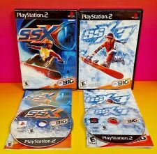 SSX 1 + 3 Snowboarding -- 2 Game Bundle PS2 Playstation 2 Rare Complete EA BIG