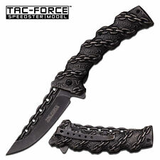 TAC FORCE Spring Assisted Opening Chain Link Stone Wash Folder Pocket Knife!!!