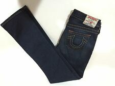 True Religion Dark Blue Straight Stella Stretchy Cotton Spandex Girls Jeans 12
