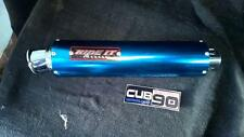 Honda C90 HRC Ride It. Race Exhaust System 3 Section Sprung, Blue Can C50 C70