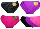 Women's Girls Sexy Sweet Cheeks Plain Briefs 3 Vibrant Colours Maximum Comfort