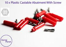 10 Plastic Castable Abutment With Screw For Dental Implant With Internal Hex