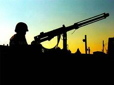 MILITARY ARMY GUN BULLET SILHOUETTE SOLDIER SKYLINE POSTER ART PRINT BB1255A
