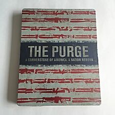 The Purge Collection 1 & 2 Blu-Ray Steelbook [U.K.] HMV Exclusive! **READ**