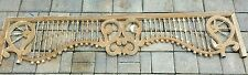 Antique Carved Oak GINGERBREAD FRETWORK STICK AND BALL SPINDLE SALVAGE 64""