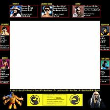 Mortal Kombat 1 Arcade Moves List Bezel Panel Artwork Art CPO Midway MK1 Midway