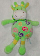 Wishpets Plush Green & Yellow Gina Giraffe Cow Swirls Stuffed Toy 2009 14""