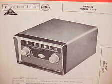 1959 GONSET AUTO CAR RADIO FM CONVERTER SERVICE SHOP MANUAL BROCHURE MODEL 3239