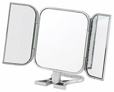 Makeup Mirror Cosmetic Beauty 3 Way Compact Stand Folding Women Travel Vanity