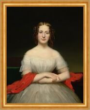 Portrait of Fidelia Marshall Charles C. Ingham Adel Locken Mode Kleid B A3 01046