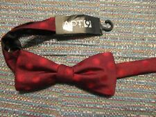 Apt. 9 Polyester Classic Bayridge Red Polka Dot Geometric Bow Tie SR$34 NEW