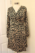 size 16 tall animal print v neck dress marks and spencer limited