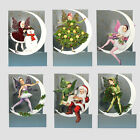 36 3D Moon Fairy Christmas Cards by Courtier with Fold Back Glitter Wings