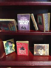 DOLLS HOUSE MINIATURE BOOKS - 1:12th Scale Sherlock Holmes collection of Seven