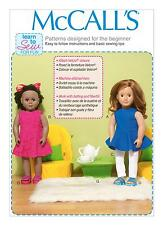 """McCalls SEWING PATTERN M7105 18"""" Doll Clothes,Chairs,Pillows,Table Learn To Sew"""