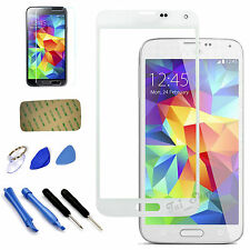 White Replacement Screen Glass Lens Kit For Samsung Galaxy S5 SV i9600 SM-G900